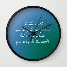 To the World Wall Clock