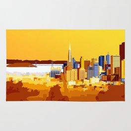 San Francisco on a sunny day Rug