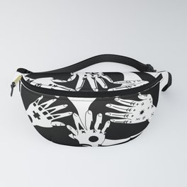 Ryukyu Hajichi Historical Womens' Traditional Tattoo from Okinawa Japan with Okinawan Hidari-Gomen Fanny Pack