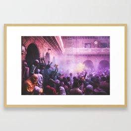 Holi Framed Art Print