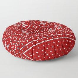 Christmas Snowflake Wool Pattern Floor Pillow