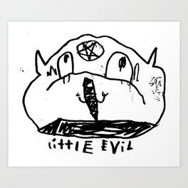 Little Evil Art Print