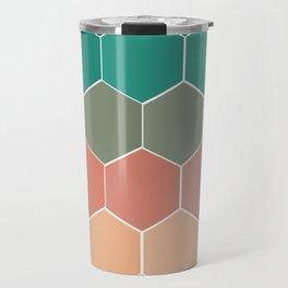 Colorful Hexagons Travel Mug