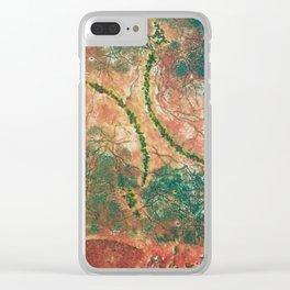 Grabado hojas abstracto Clear iPhone Case