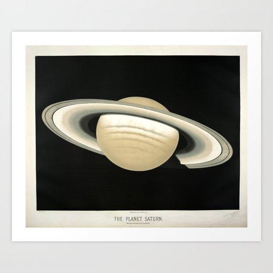 Saturn by Étienne Léopold Trouvelot (1874) by brainpicker