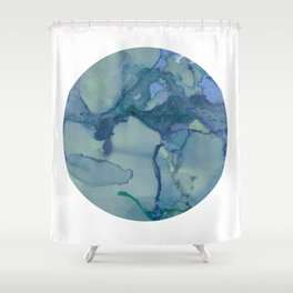 Turquoise Moon Shower Curtain