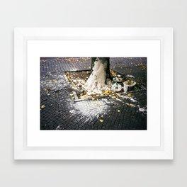 SIDEWALK POLLOCK Framed Art Print