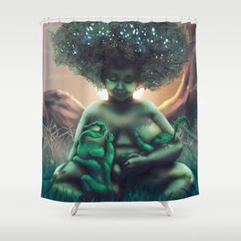 Mother Baobab Shower Curtain