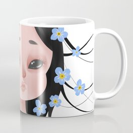 Looming Darkness: Forget-Me-Not - Girl with Flowers Coffee Mug