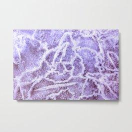 Frozen Magenta Metal Print