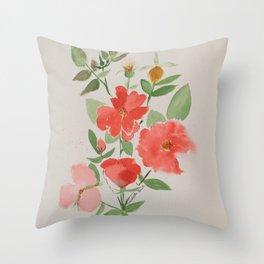Fall Knockout Roses Throw Pillow