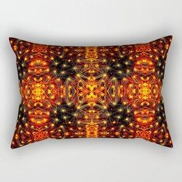 Red Yellow Sparkling Pattern Rectangular Pillow