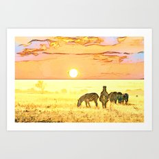 African Savannah Art Print