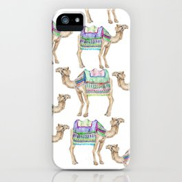 Boho Camel Tassel India Morocco Camel Watercolor iPhone Case
