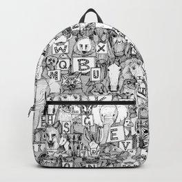 animal ABC black white Backpack