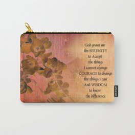 Serenity Prayer Quince and Fence One Carry-All Pouch