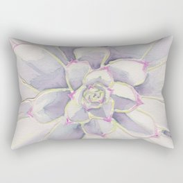 Subtle Succulent Rectangular Pillow