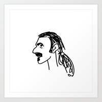 zappa Art Prints featuring Frank Zappa by rabuzina