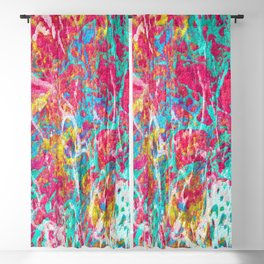Abstract Painting with Texture Blackout Curtain