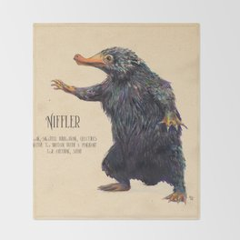 Niffler art Fantastic Beasts Throw Blanket