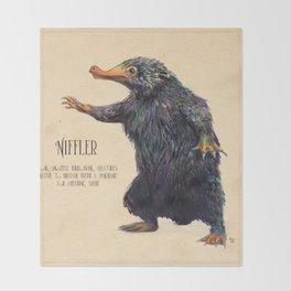 Niffler art Fantastic Beasts Throw Blanket
