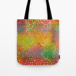 DP050-6 Colorful Moroccan pattern Tote Bag