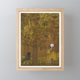 The Queen of Bees and the Princess who loved Honey Framed Mini Art Print