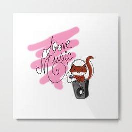 Love Music Metal Print