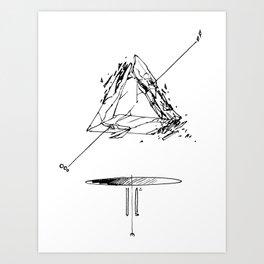 Crystal Pyramid Art Print