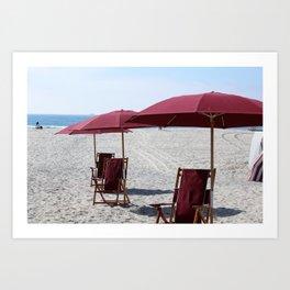 Beach at Hotel Del Coronado Art Print