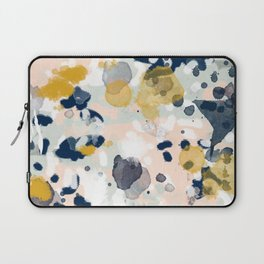 Esther - abstract minimal gold navy painting home decor minimalist hipster art Laptop Sleeve