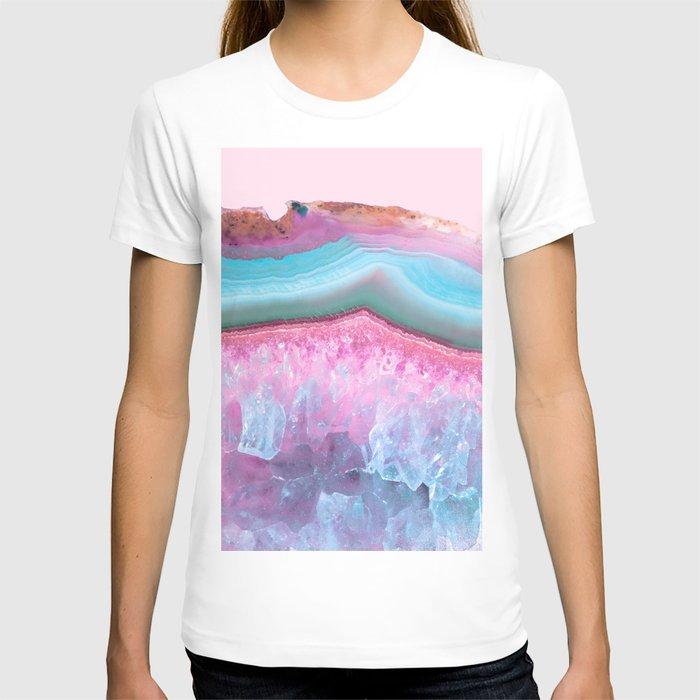 Rose Quartz and Serenity Agate T-shirt