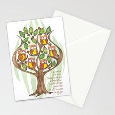 Owl Tree Stationery Cards