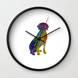 Polish Hound in watercolor Wall Clock