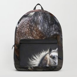 Two Beautiful Horses Galloping Ultra HD Backpack