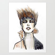 Punk fashion illustration  Art Print