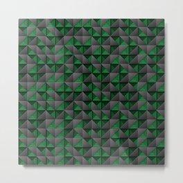 Tech Mosaic Green Metal Print