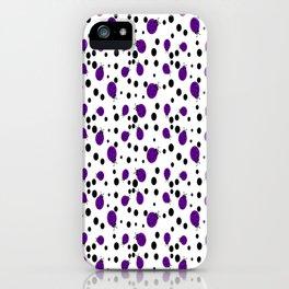 Purple Ladybugs and Black Dots iPhone Case
