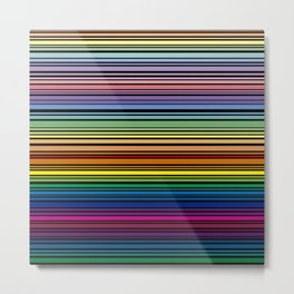 Multicolored lines with black background Metal Print