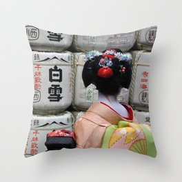 Geisha Maiko III Throw Pillow