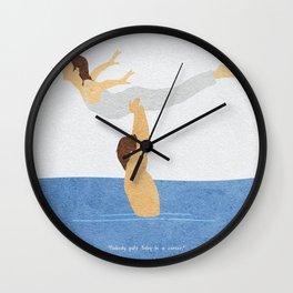 Dirty Dancing Alternative Minimalist Movie Poster Wall Clock