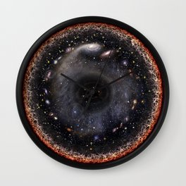 Observable universe logarithmic illustration Wall Clock