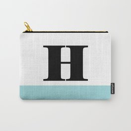 Monogram Letter H-Pantone-Limpet Shell Carry-All Pouch