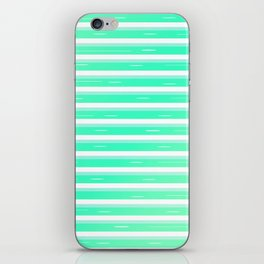 Mint stripes iPhone Skin