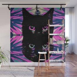 Black Cat Rising Wall Mural