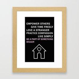 Values Tee Framed Art Print
