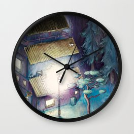 White Cat and Bright Lights (remaster 2) Wall Clock
