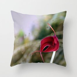 A Misty Masdevallia Throw Pillow