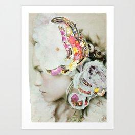 Portrait into the mind Art Print
