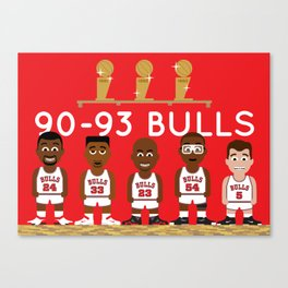 3-Peat Bulls Canvas Print